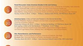 Asian American Studies Speaker Series event poster